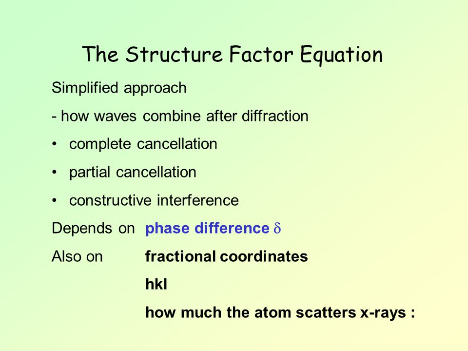 The Structure Factor Equation