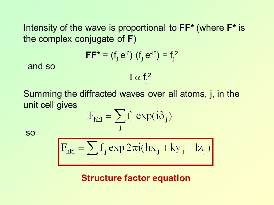 Structure factor equation