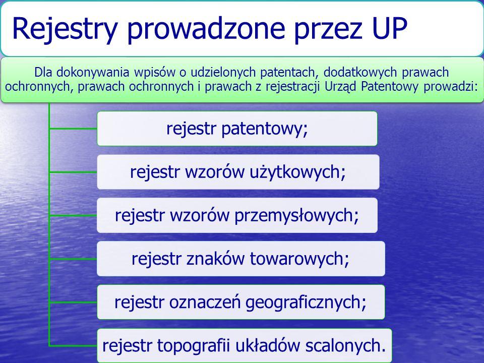 Rejestry prowadzone przez UP