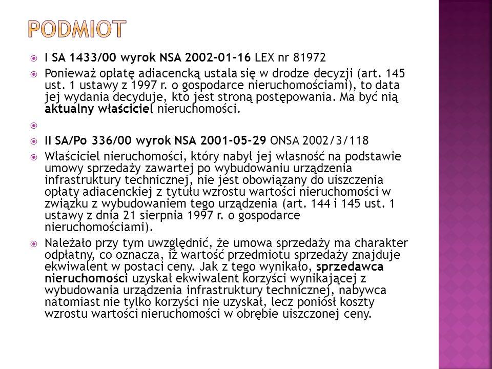podmiot I SA 1433/00 wyrok NSA 2002-01-16 LEX nr 81972