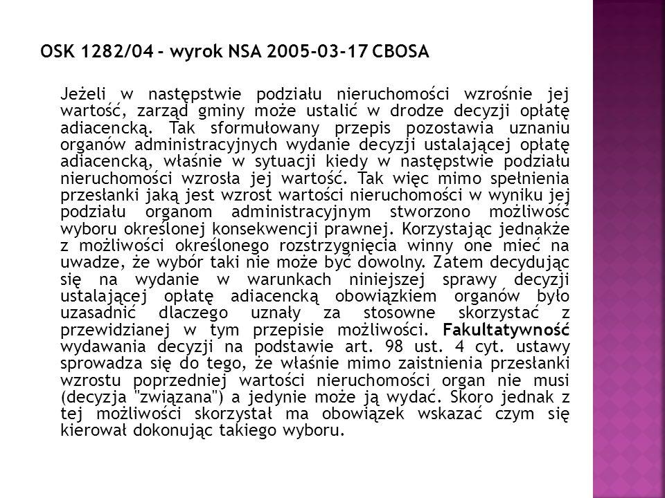 OSK 1282/04 - wyrok NSA 2005-03-17 CBOSA