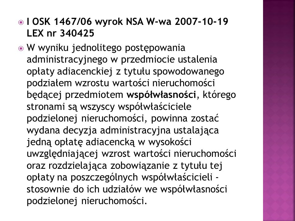 I OSK 1467/06 wyrok NSA W-wa 2007-10-19 LEX nr 340425