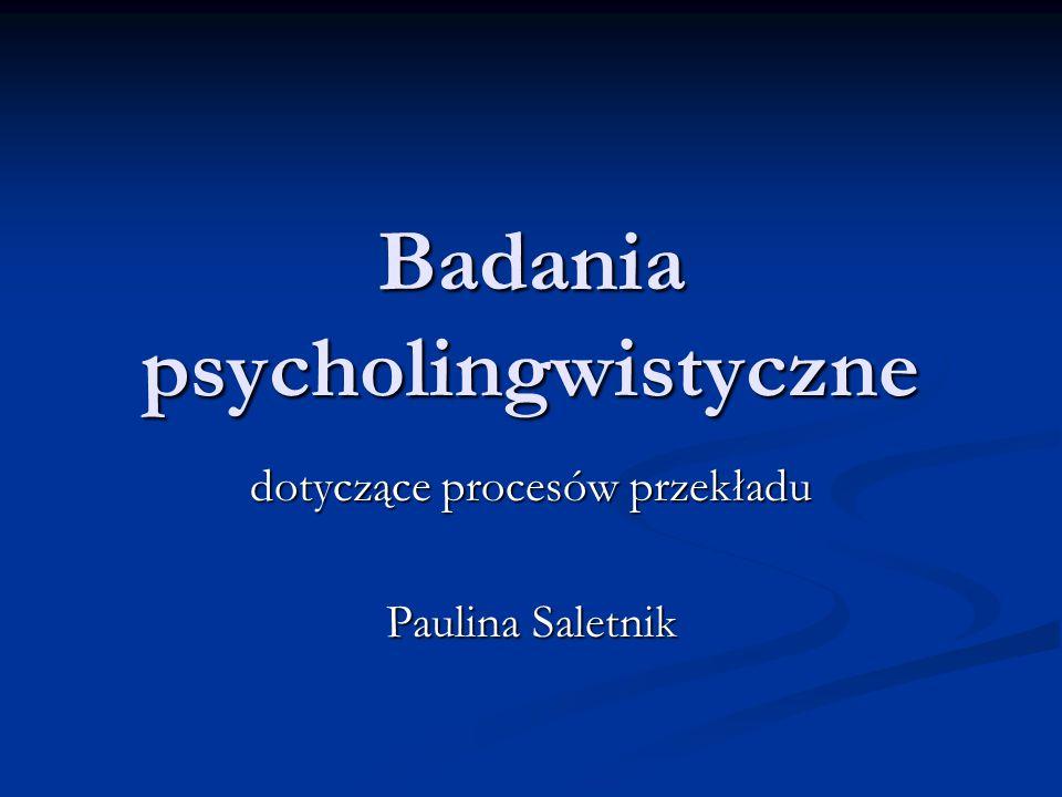 Badania psycholingwistyczne