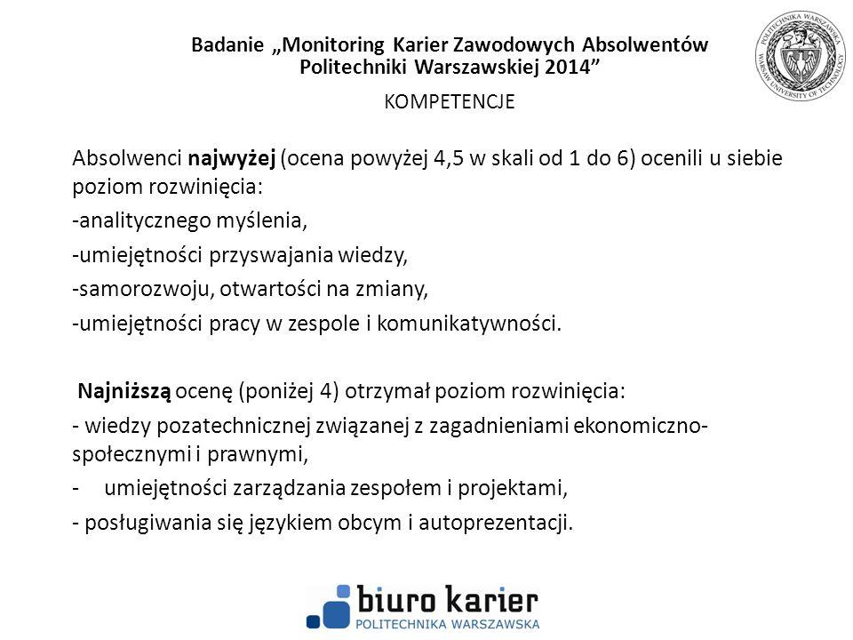 """Badanie """"Monitoring Karier Zawodowych Absolwentów"""