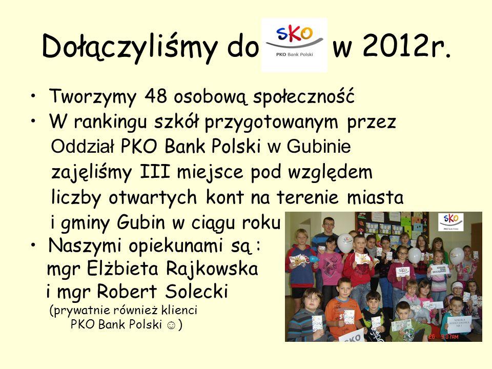 Dołączyliśmy do w 2012r. Tworzymy 48 osobową społeczność