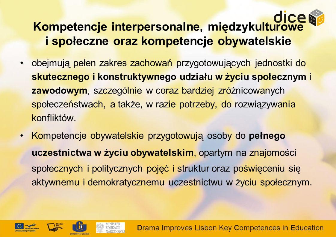 Kompetencje interpersonalne, międzykulturowe i społeczne oraz kompetencje obywatelskie