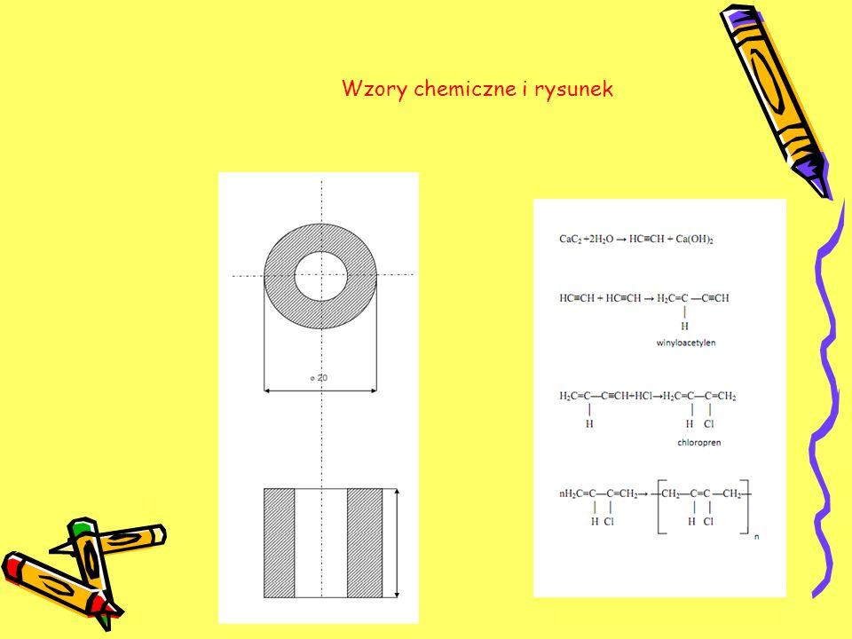 Wzory chemiczne i rysunek