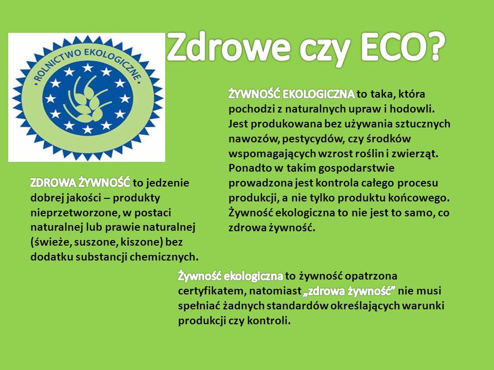 Zdrowe czy ECO