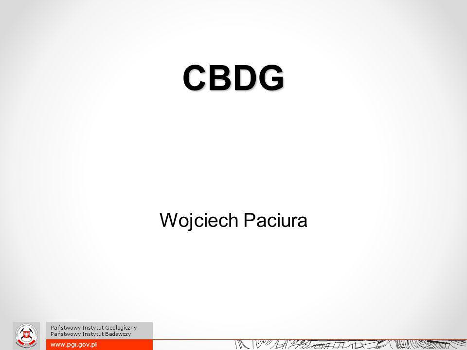 CBDG Wojciech Paciura www.pgi.gov.pl Państwowy Instytut Geologiczny