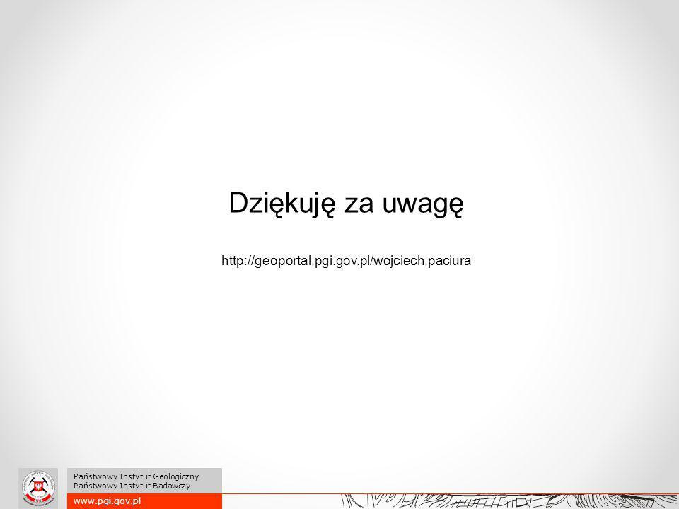 Dziękuję za uwagę http://geoportal.pgi.gov.pl/wojciech.paciura