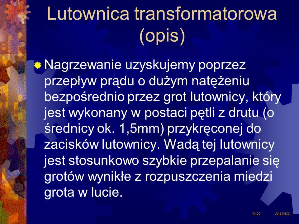Lutownica transformatorowa (opis)