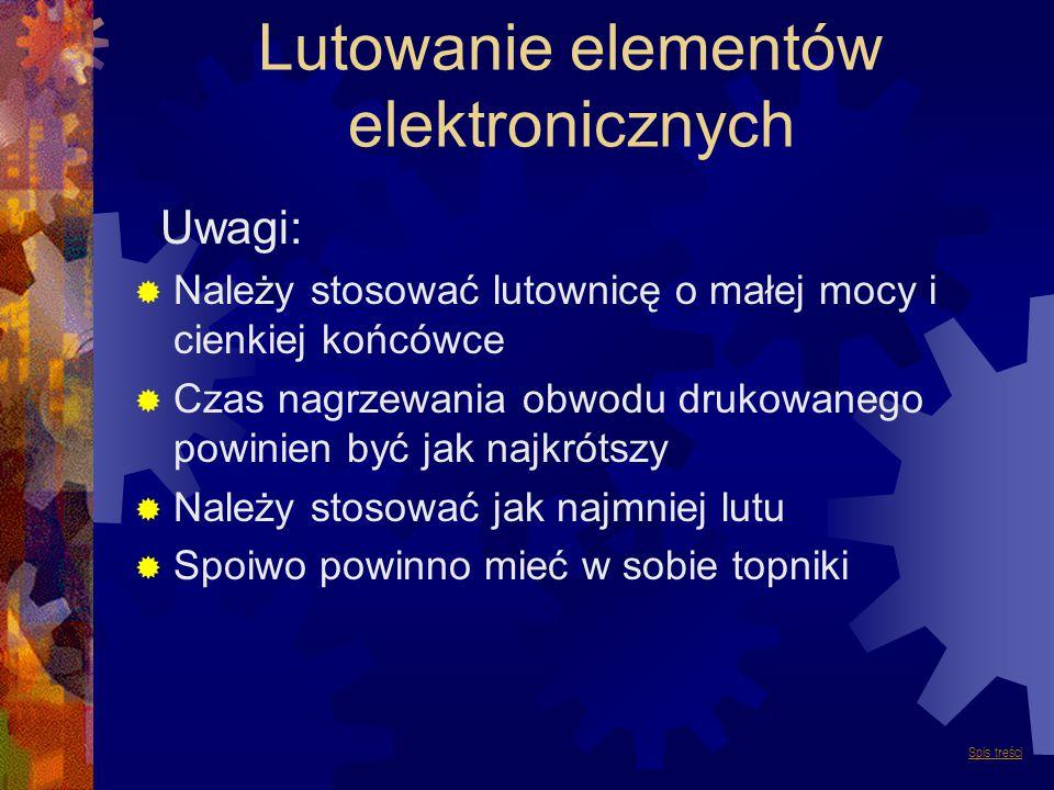 Lutowanie elementów elektronicznych