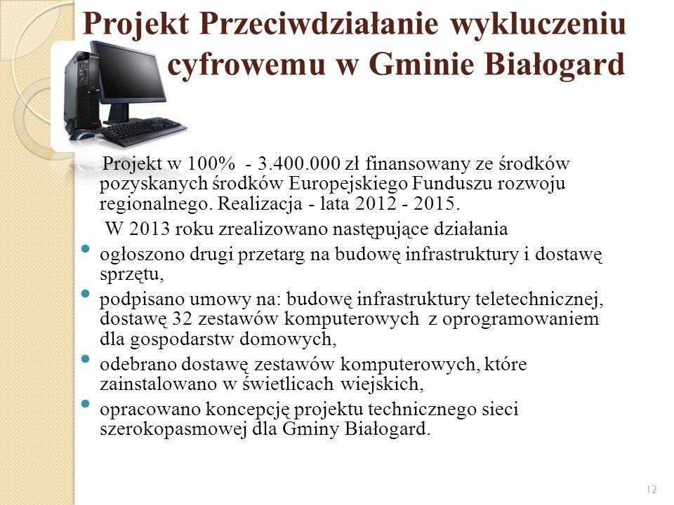 Projekt Przeciwdziałanie wykluczeniu cyfrowemu w Gminie Białogard