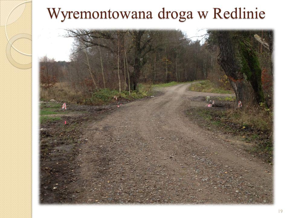 Wyremontowana droga w Redlinie