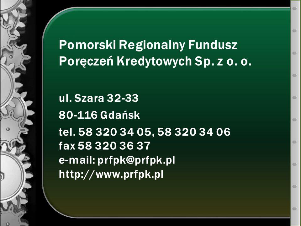 Pomorski Regionalny Fundusz Poręczeń Kredytowych Sp. z o. o.
