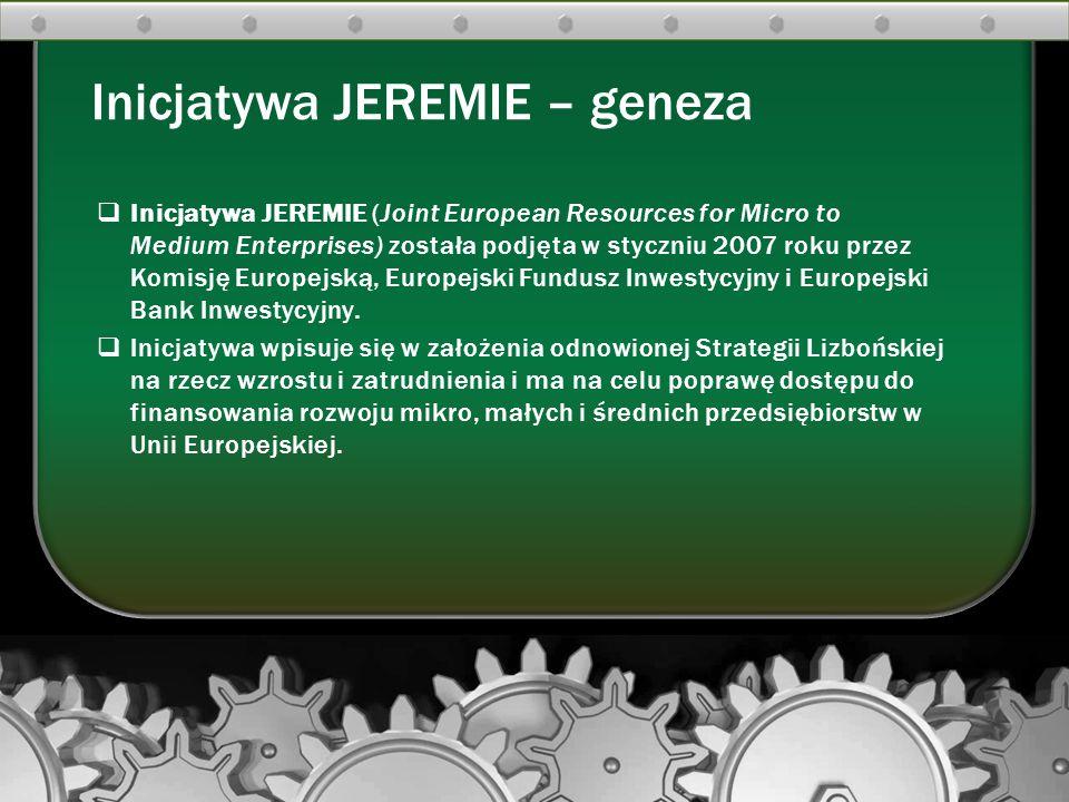 Inicjatywa JEREMIE – geneza