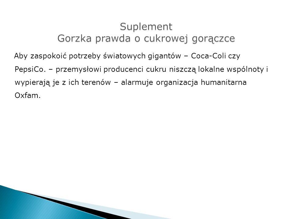 Suplement Gorzka prawda o cukrowej gorączce