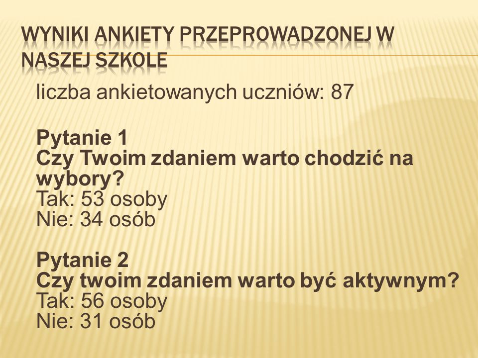Wyniki ankiety przeprowadzonej w naszej szkole
