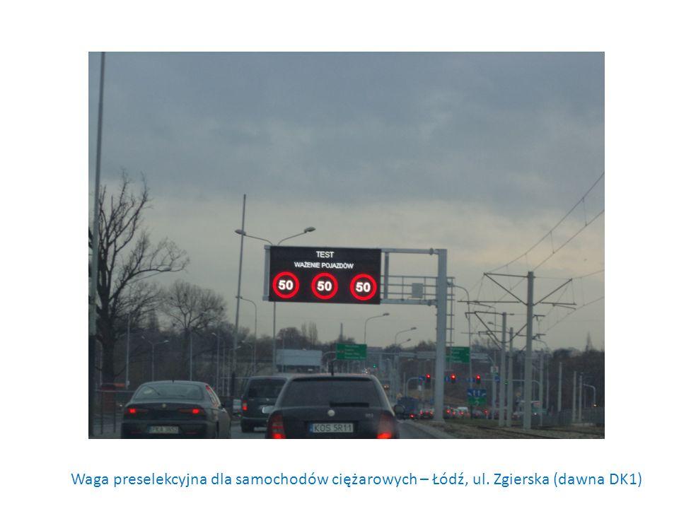 Waga preselekcyjna dla samochodów ciężarowych – Łódź, ul