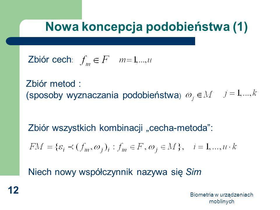 Nowa koncepcja podobieństwa (1)