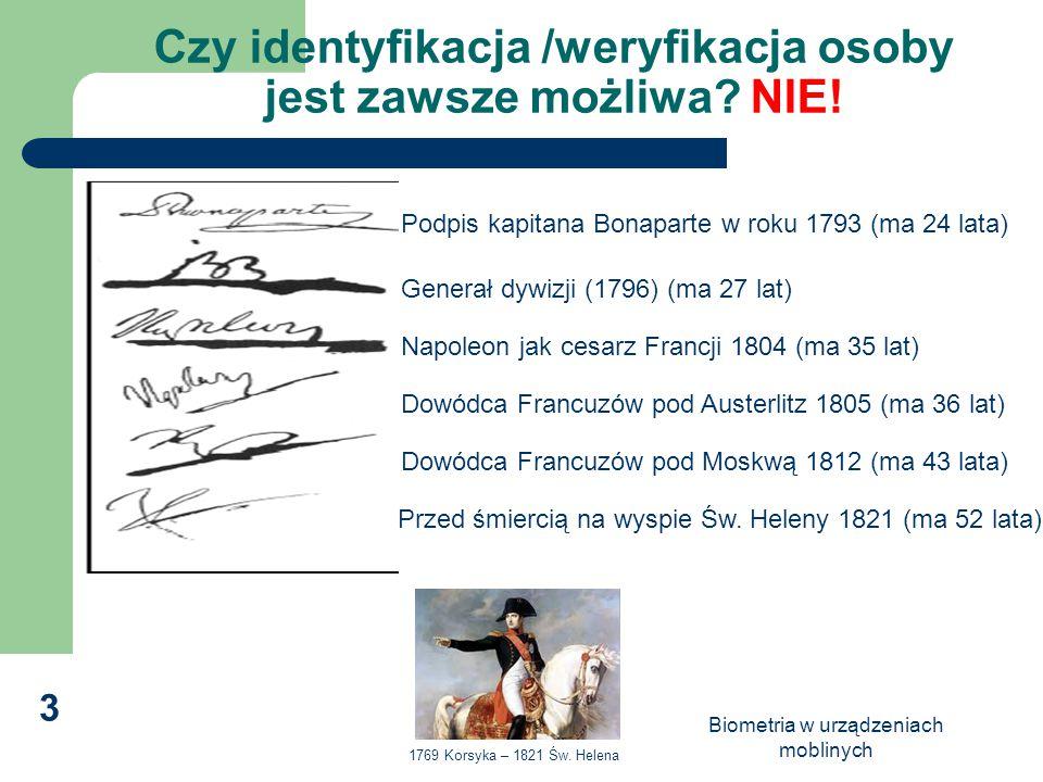 Czy identyfikacja /weryfikacja osoby jest zawsze możliwa NIE!