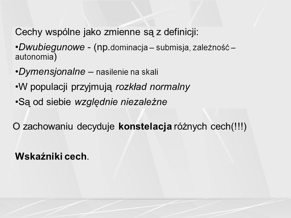 Cechy wspólne jako zmienne są z definicji: