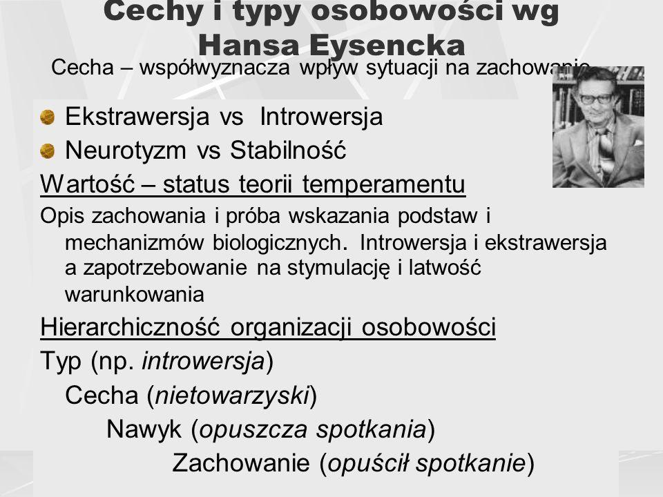 Cechy i typy osobowości wg Hansa Eysencka