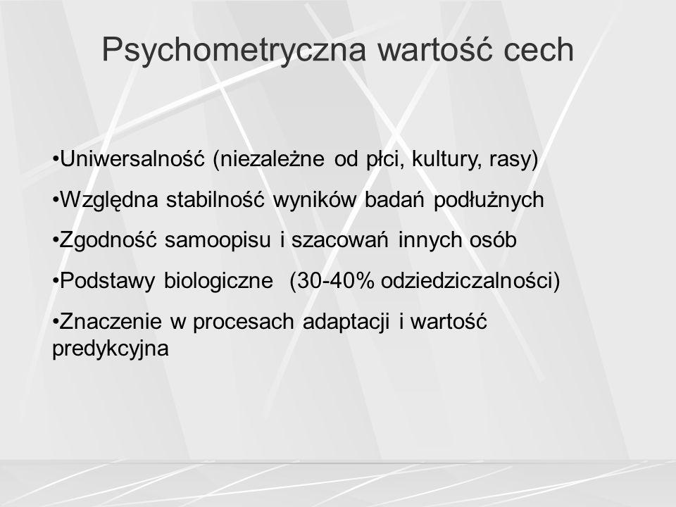 Psychometryczna wartość cech