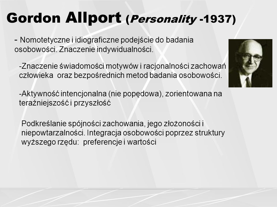 Gordon Allport (Personality -1937)