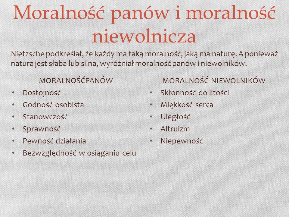 Moralność panów i moralność niewolnicza