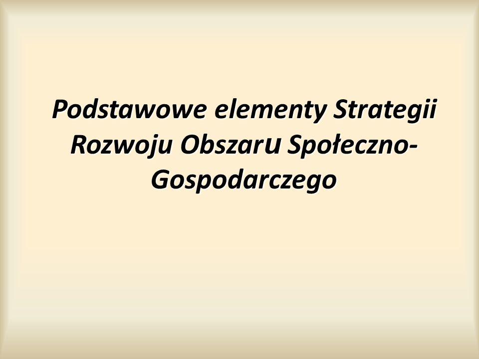 Podstawowe elementy Strategii Rozwoju Obszaru Społeczno-Gospodarczego