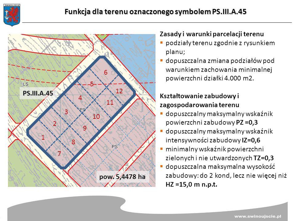 Funkcja dla terenu oznaczonego symbolem PS.III.A.45