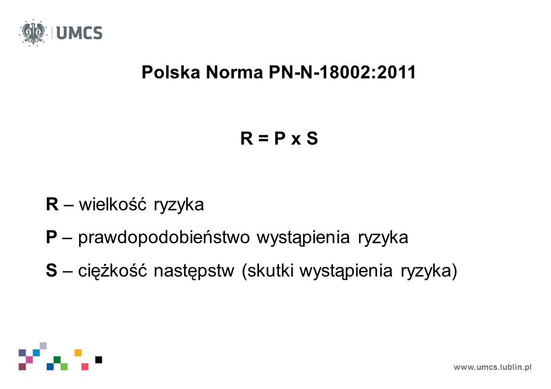 Polska Norma PN-N-18002:2011 R = P x S