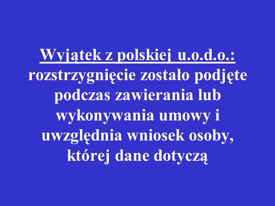 Wyjątek z polskiej u. o. d. o