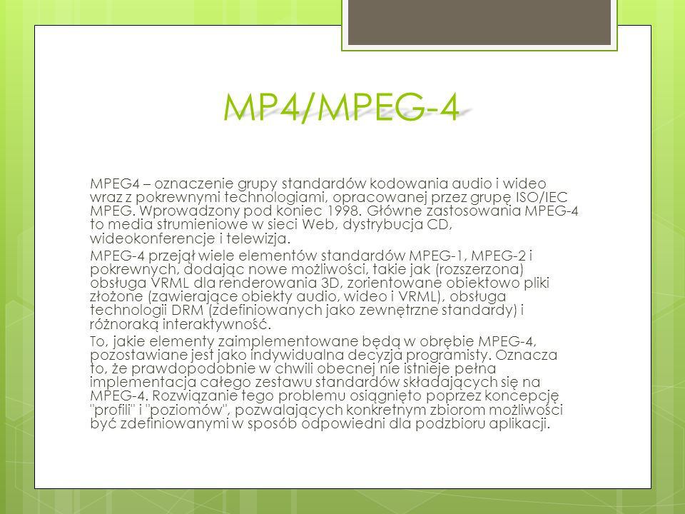 MP4/MPEG-4