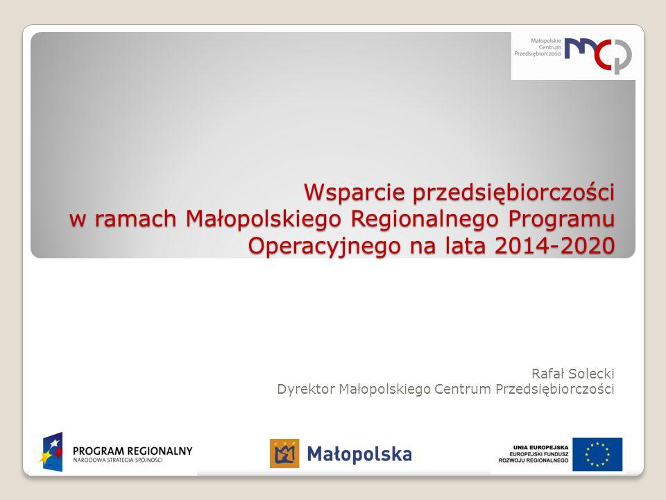 Rafał Solecki Dyrektor Małopolskiego Centrum Przedsiębiorczości