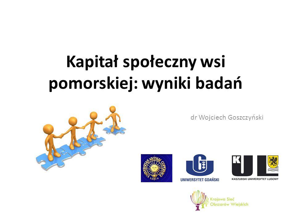 Kapitał społeczny wsi pomorskiej: wyniki badań