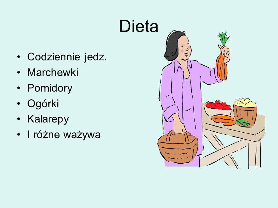 Dieta Codziennie jedz. Marchewki Pomidory Ogórki Kalarepy