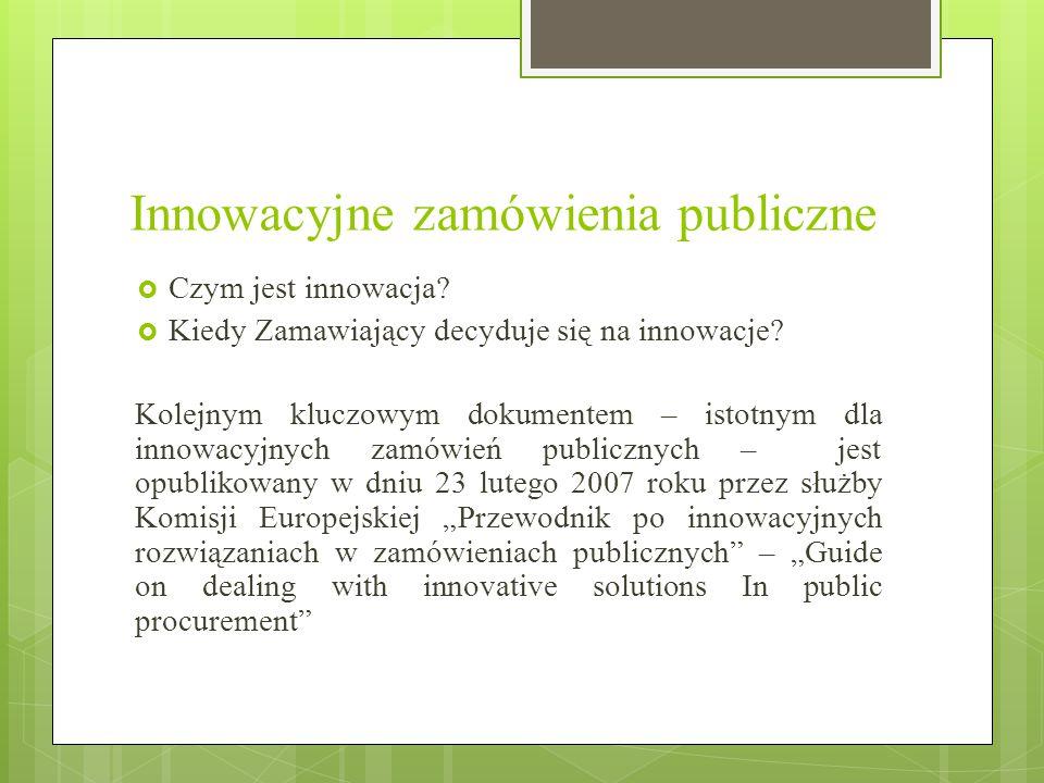 Innowacyjne zamówienia publiczne