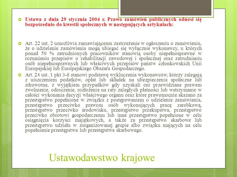 Ustawodawstwo krajowe