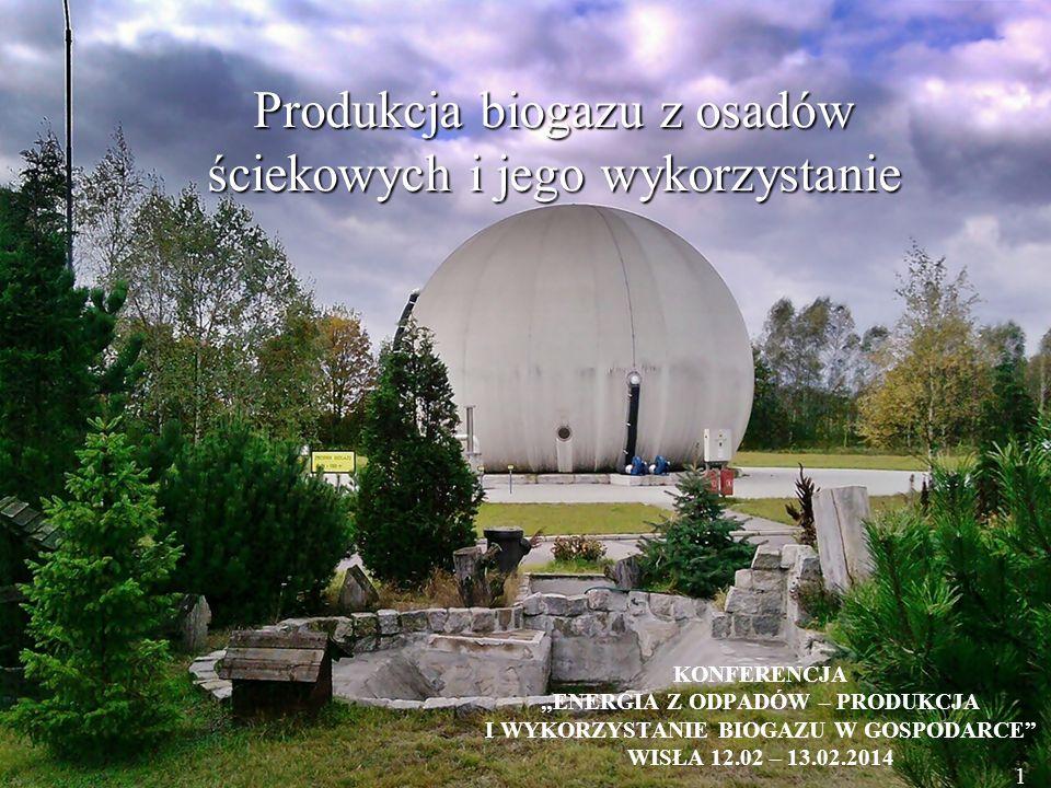 Produkcja biogazu z osadów ściekowych i jego wykorzystanie