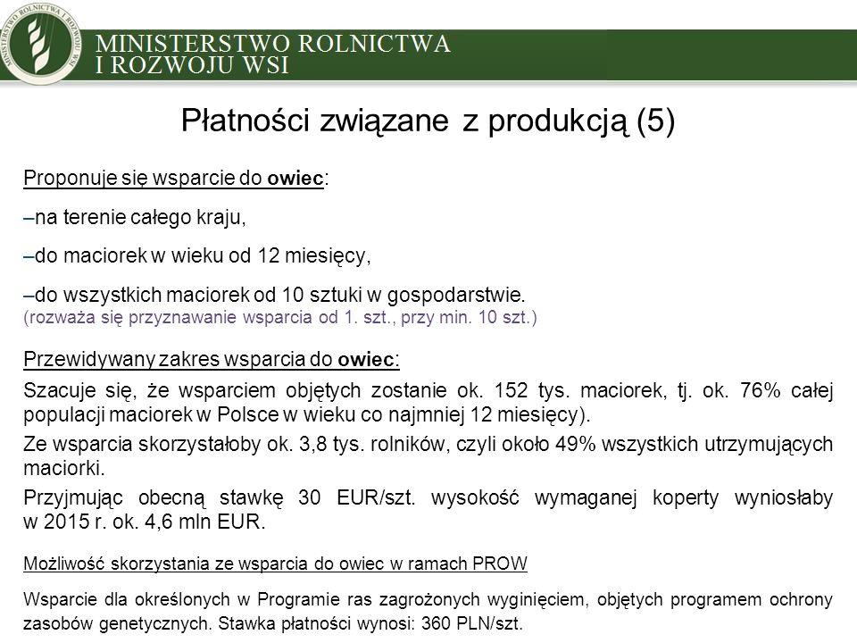 Płatności związane z produkcją (5)