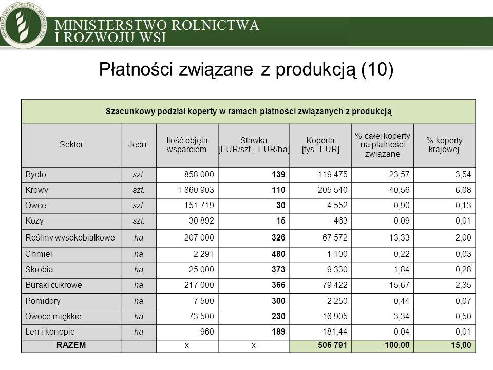 Płatności związane z produkcją (10)