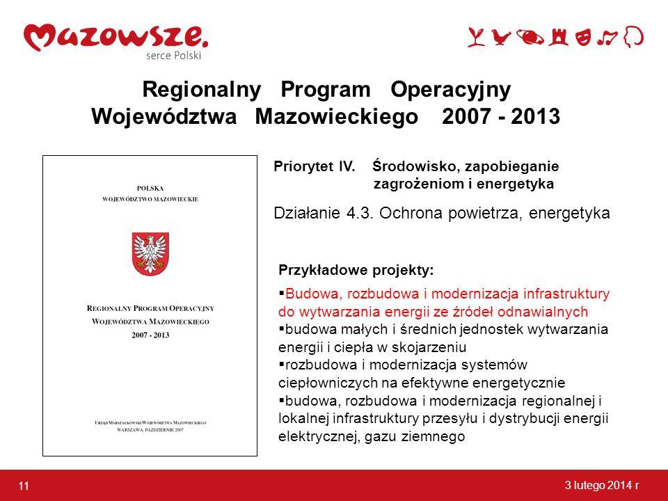 Regionalny Program Operacyjny Województwa Mazowieckiego 2007 - 2013