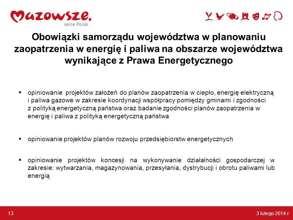 Obowiązki samorządu województwa w planowaniu zaopatrzenia w energię i paliwa na obszarze województwa wynikające z Prawa Energetycznego