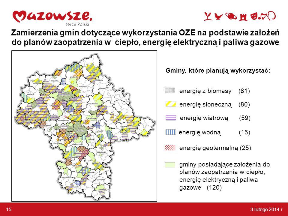 Zamierzenia gmin dotyczące wykorzystania OZE na podstawie założeń do planów zaopatrzenia w ciepło, energię elektryczną i paliwa gazowe