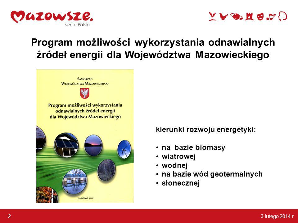 Program możliwości wykorzystania odnawialnych źródeł energii dla Województwa Mazowieckiego