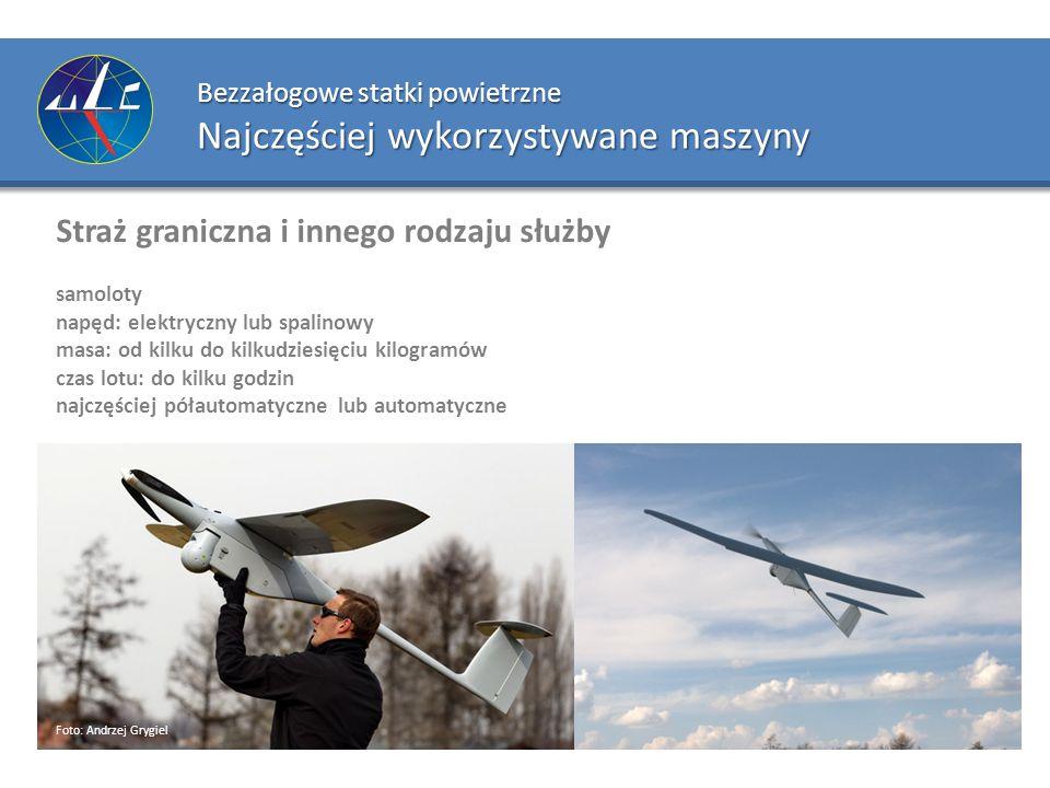 Bezzałogowe statki powietrzne Najczęściej wykorzystywane maszyny