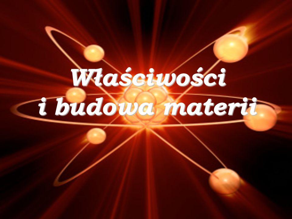 Właściwości i budowa materii