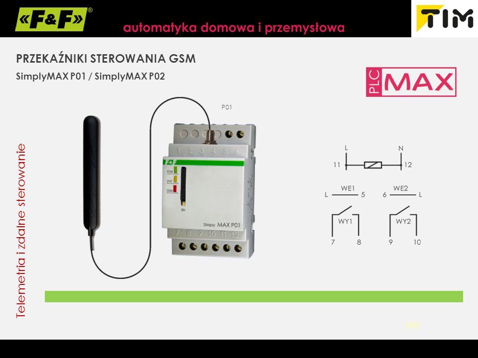 PRZEKAŹNIKI STEROWANIA GSM